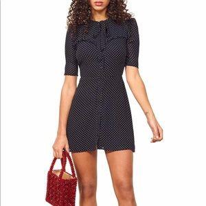 Brand new reformation kinsly mini Dress Sz 2